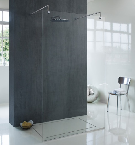 very modern shower